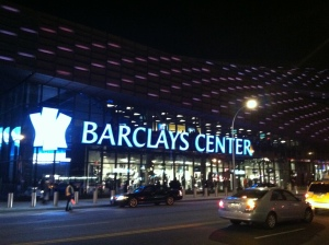 Barclays Center from across Flatbush Ave