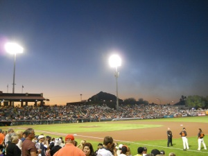 Sunset - Scottsdale Stadium