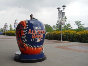 All-Star apple and train - Citi Field