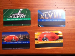 Super Bowl Metrocards