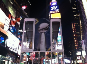 Super Bowl Trophy - Times Square